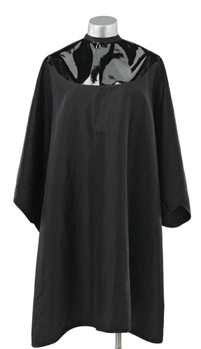 Black Chemical Cape Hairstylist Apron Cape Smock Spa