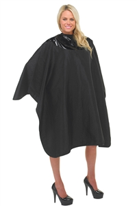 BeautyLove chemical cape, bottom section hair cutting material, top section is water proof material,