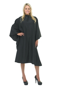 BeautyLove Lover Boy Hair Cutting Cape, Black crinkle polyester stain, bleach and water resistant 