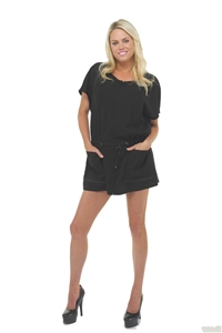 BeautyLove Love at first sight smock for salon. smock for spa, black soft zipper front smock, adjustable toggle waist smock, stain resistant smock with zipper.