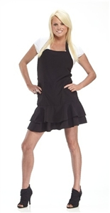 BLACK TIE FRILL- SALON APRON
