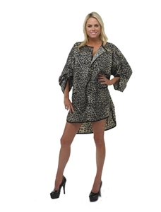 UNDER COVER LOVER CHEETAH HAIRCUTTING  SMOCK