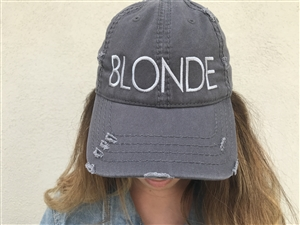 Blonde Distress Hat