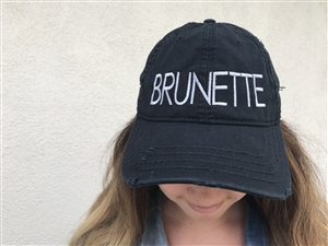 Brunette Distress Hat